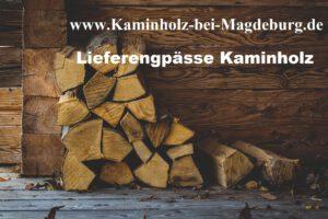 Lieferengpässen Kaminholz